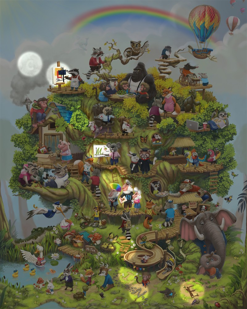 The Life Tree. Can you find the letters?