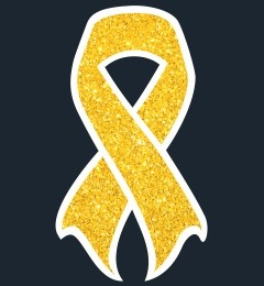 Wear a gold ribbon to support Childhood Cancer Awareness Month