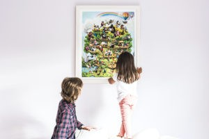 The Life Tree is a personalised picture which can feature your child's name